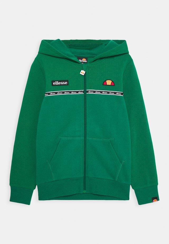 REFIGY - Hoodie met rits - dark green