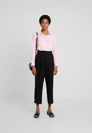 RITZ DRAPY TROUSERS - Trousers - black dark