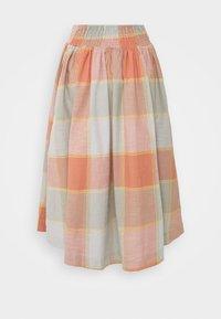 Thought - ALEXA FULL CHECK SKIRT - A-line skirt - clementine orange - 1