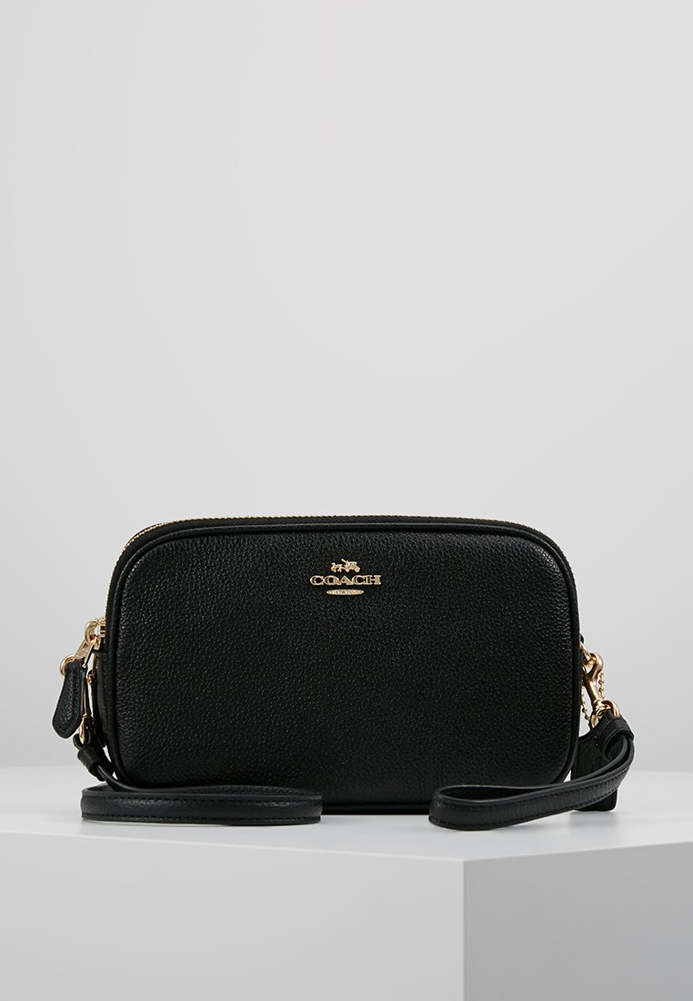 Coach - POLISHED PEBBLE SADIE CROSSBODY  - Across body bag - black