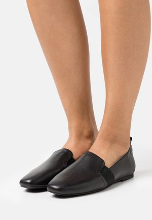 COMFORT LEATHER - Slip-ons - black