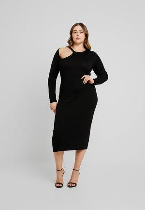 ASYM CUT OUT DRESS - Vestido de tubo - black