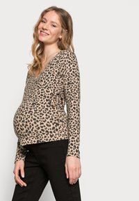 Pieces Maternity - PCMPOLLY WRAP - Jumper - warm taupe - 3