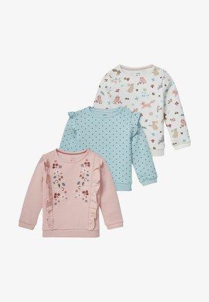 3 PACK - Sweatshirt - rose/turquoise
