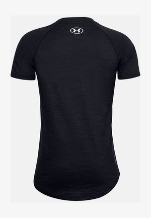 UA CHARGED COTTON SS - Basic T-shirt - black