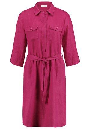 Shirt dress - deep fuchsia
