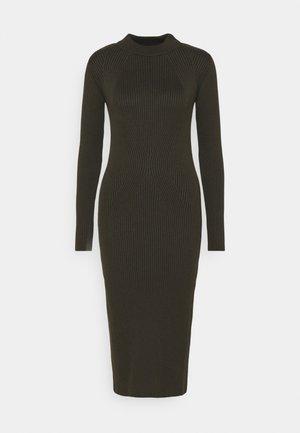 PLATED LYNN DRESS MOCK - Shift dress - algae