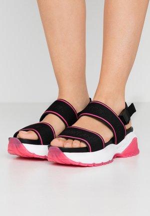 Platform sandals - rot