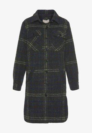 Short coat - blau grau karo