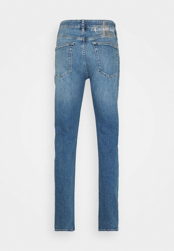 Calvin Klein Jeans SLIM TAPER - Jeansy Zwężane - denim medium/niebieski denim Odzież Męska MYXV