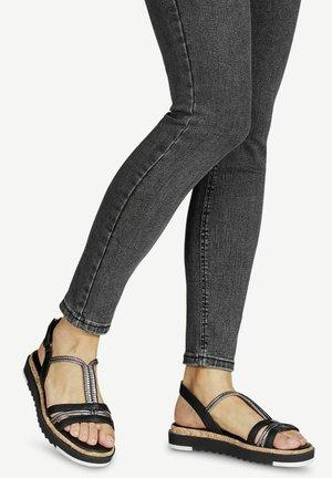 Platform sandals - black/pewter