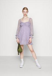 Hollister Co. - SHORT DRESS - Kjole - lavender - 1