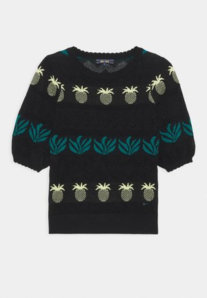 AGNES BELLSLEEVE PINEAPPLE - Svetr - black