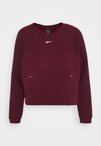Nike Performance - LUX DRY CREW - Sudadera - dark beetroot/metallic silver - 3