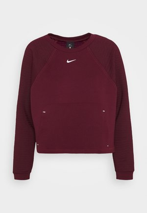 LUX DRY CREW - Sweatshirt - dark beetroot/metallic silver