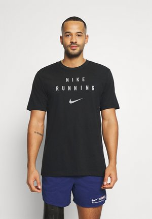 RUN DIVISION - Camiseta estampada - black