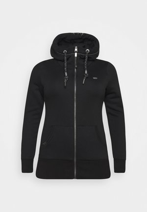 NESKA ZIP PLUS - Zip-up hoodie - black