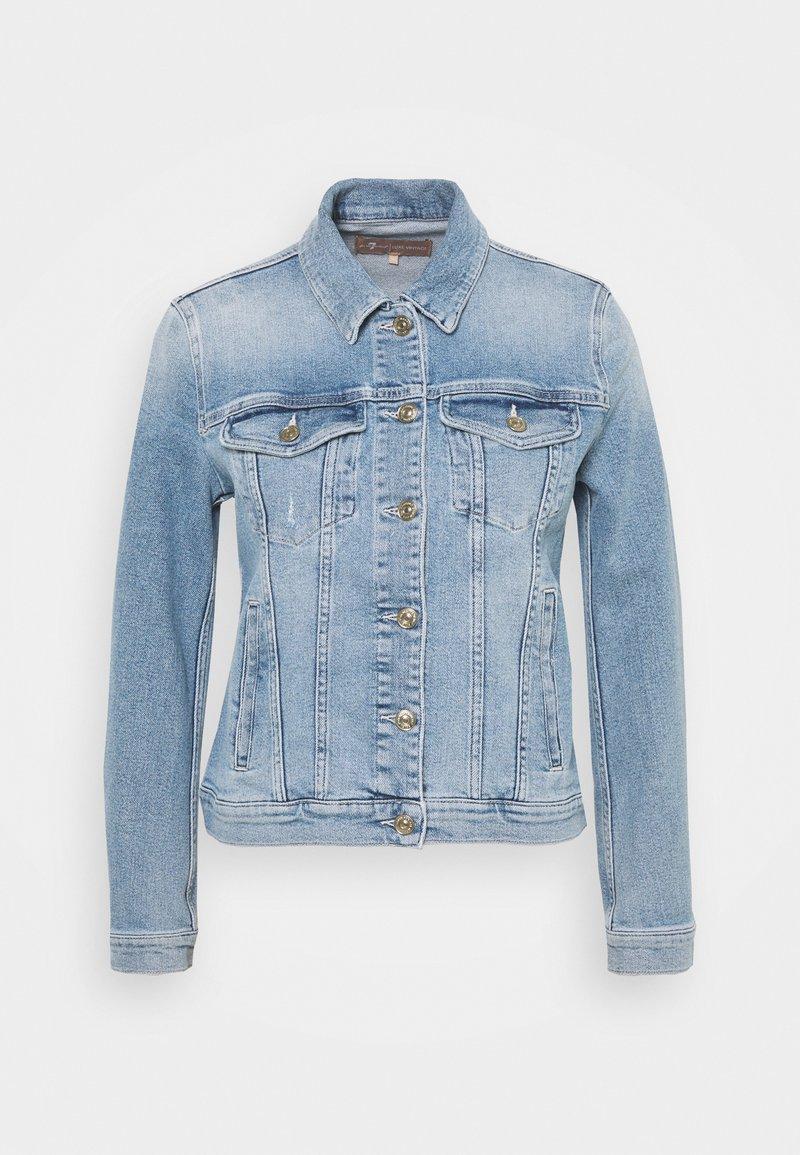 7 for all mankind - MODERN TRUCKER LUXE VINTAGE SKYWALK - Denim jacket - light blue