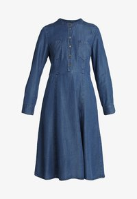 OPALINE - Denim dress - dark denim