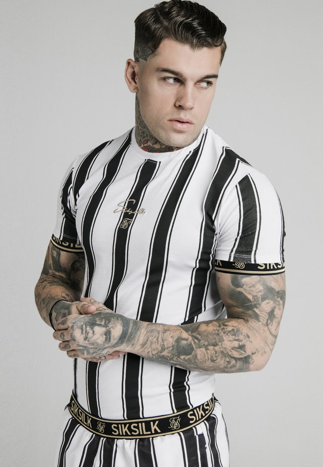 STRIPE TEE - T-shirt con stampa - black/white