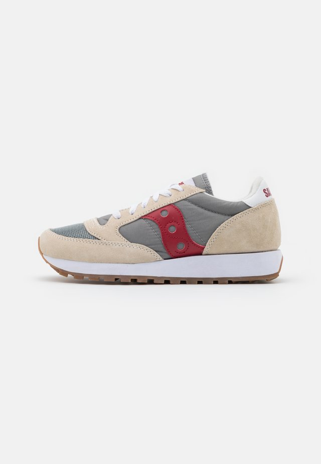 JAZZ VINTAGE - Sneakers laag - marshmallow/grey/red