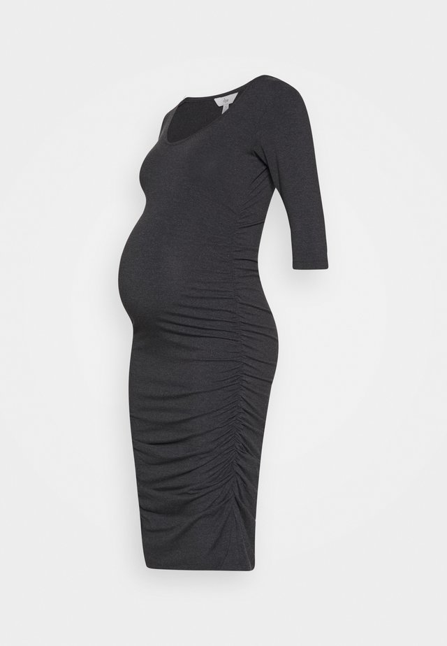 MARLE DRESS - Jerseyjurk - charcoal