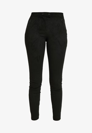 ONLTIA TUVA LEGGING - Trousers - black