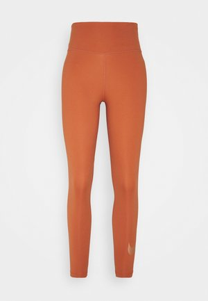 NIKE ONE 7/8 - Tights - light sienna/white