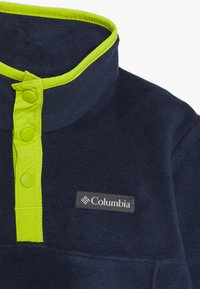 Columbia - STEENS 1/4 SNAP - Fleecová mikina - collegiate navy/bright chartreuse - 2