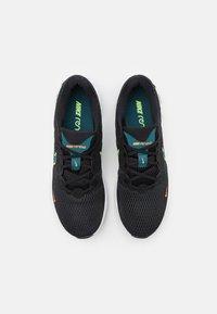Nike Performance - RENEW RIDE 2 - Neutrala löparskor - black/lime glow/dark teal green/white - 3