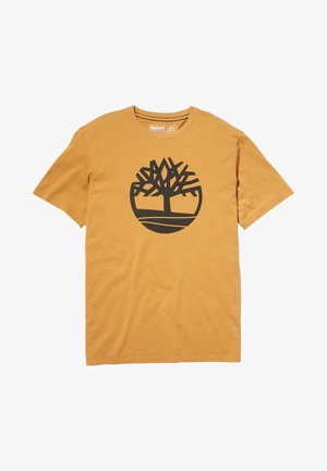 Print T-shirt - wheat boot