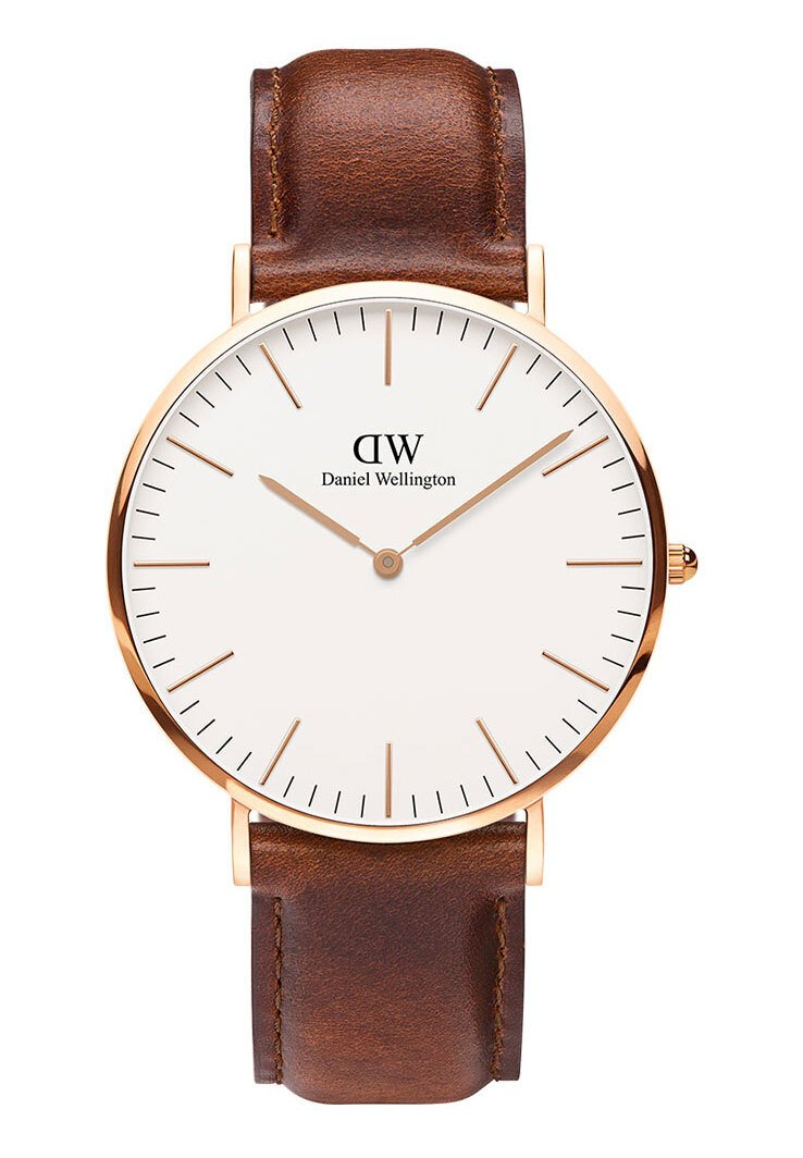 Daniel Wellington - CLASSIC ST MAWES 40MM - Hodinky - brown/rose gold coloured