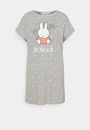 SHORT SLEEVES SHORT NIGHTDRESS TROPICAL - Nightie - grey