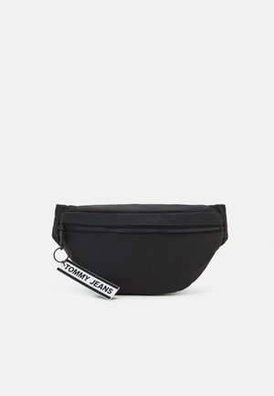 LOGO TAPE BUMBAG UNISEX - Bum bag - black