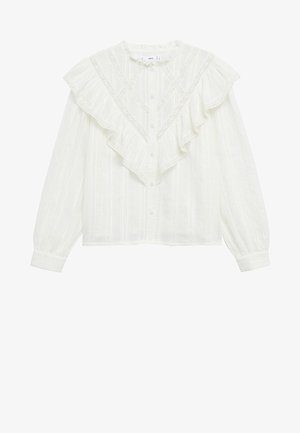 ROMANTIC - Button-down blouse - offwhite
