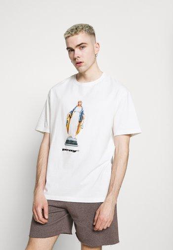 MOTHER  UNISEX - Print T-shirt - off-white