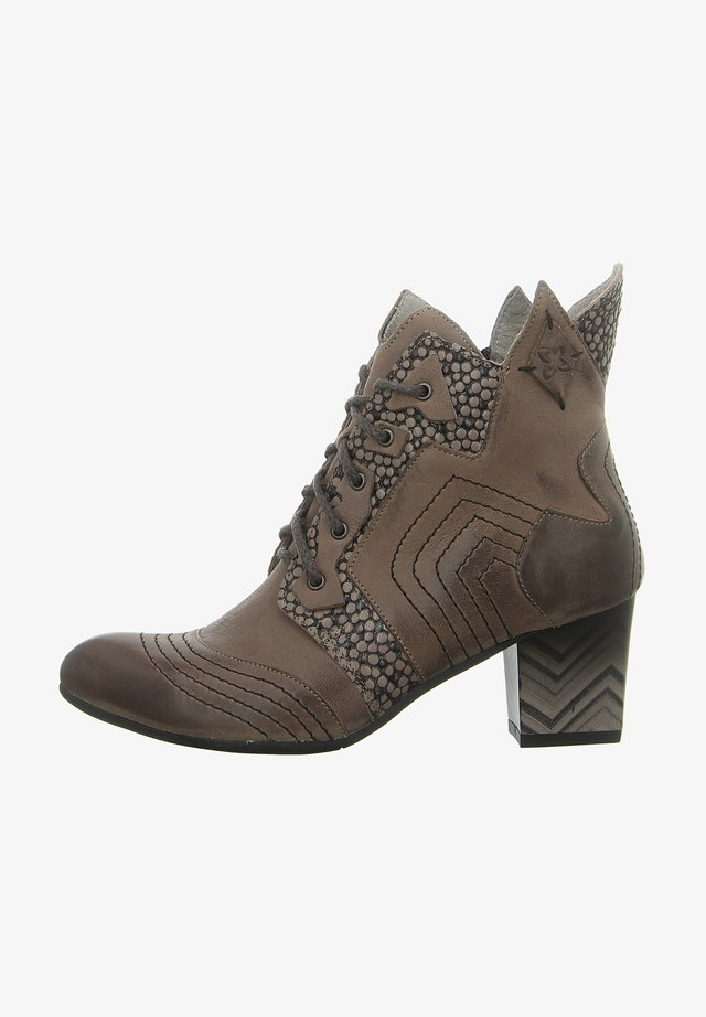 Lace-up ankle boots - popiel