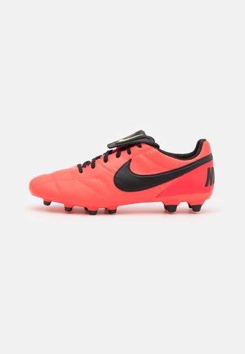 PREMIER II FG - Moulded stud football boots - bright crimson/black/light lemon twist