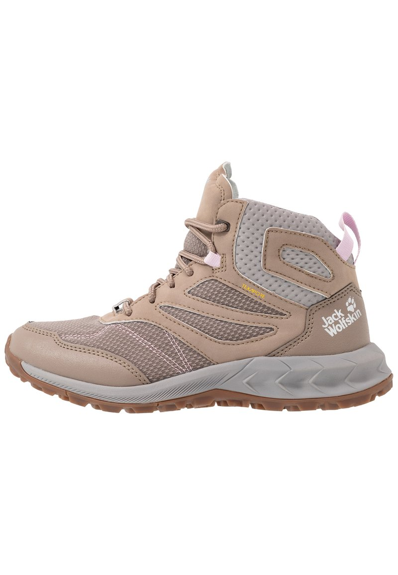 Jack Wolfskin - WOODLAND TEXAPORE MID - Hiking shoes - clay/light grey