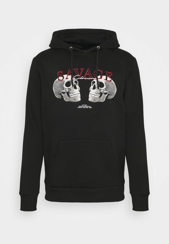 SAVAGE DEATH HOODY - Sweatshirt - black