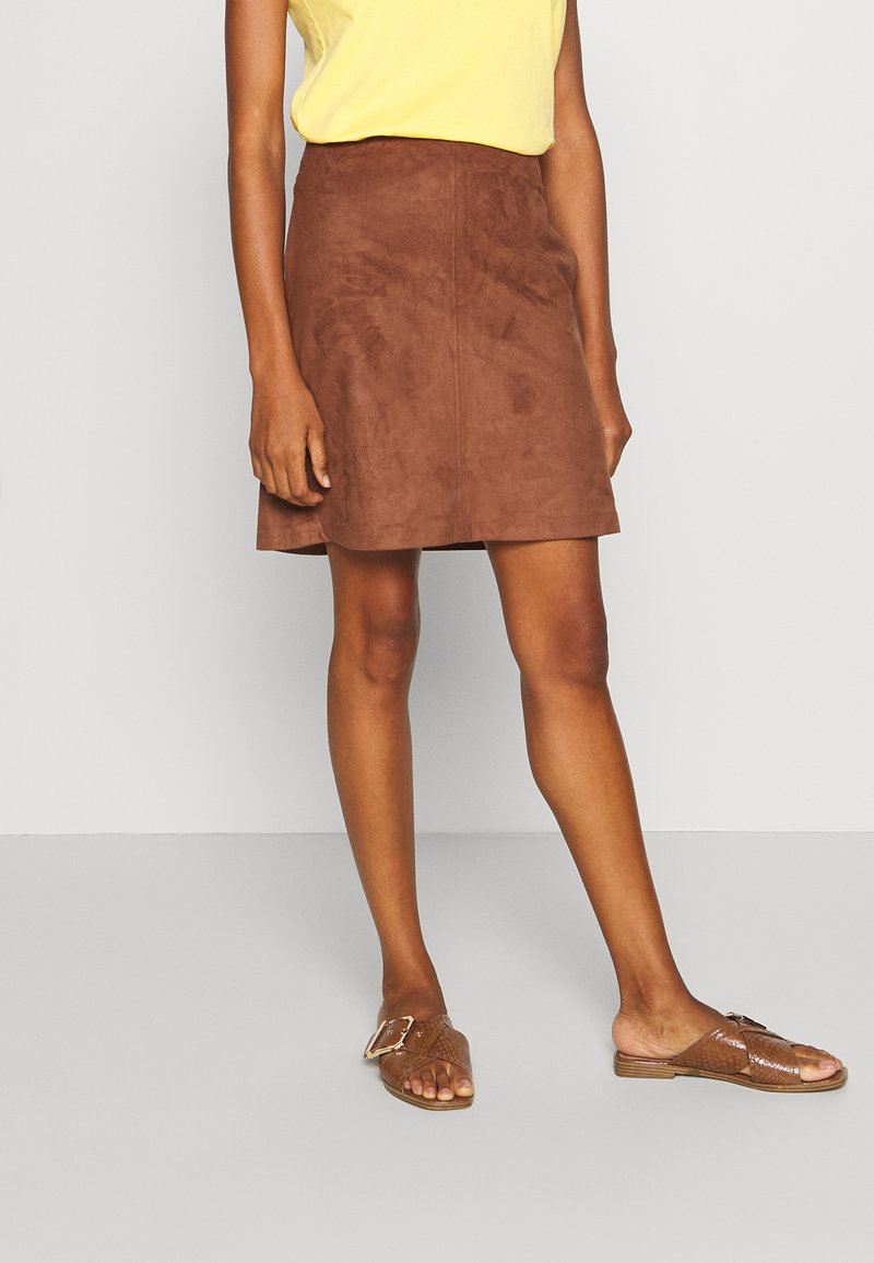 Esprit - A-line skirt - brown