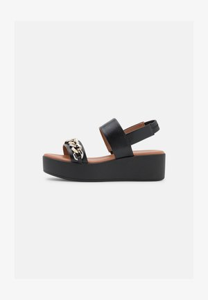 VEGAN CLEO - Korkeakorkoiset sandaalit - black