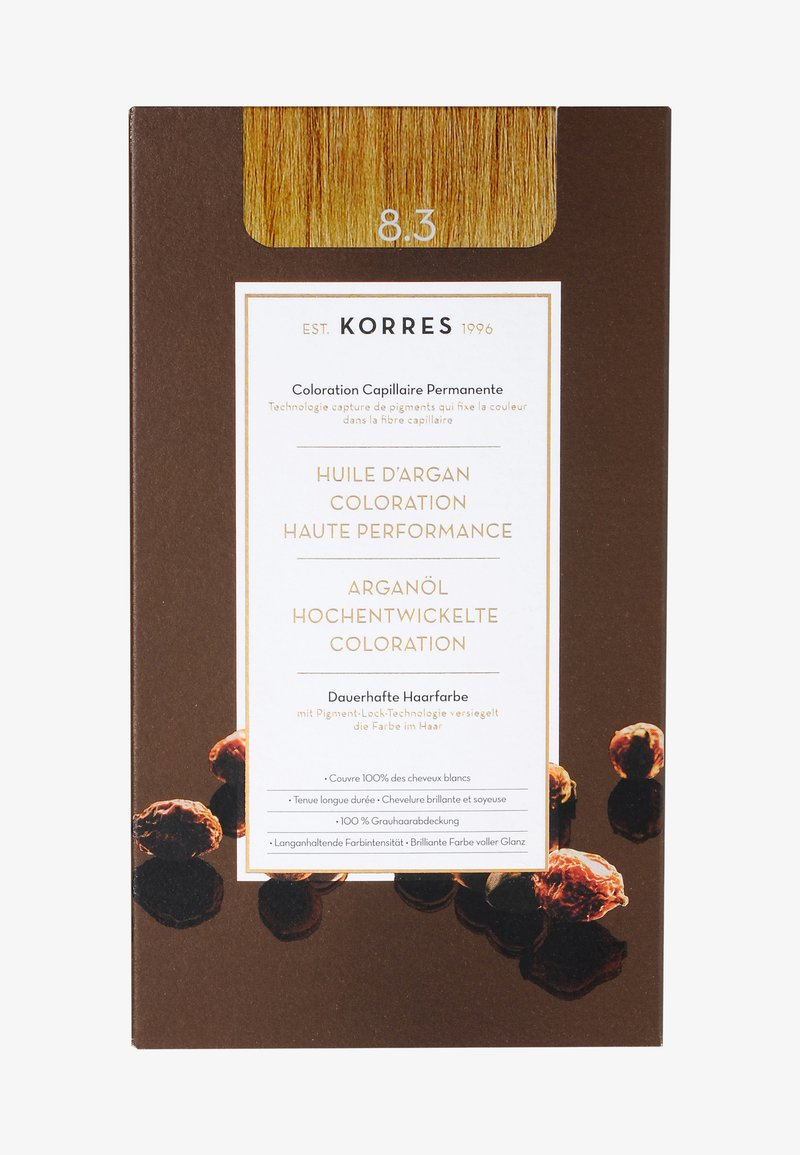 Korres - ARGAN OIL ADVANCED COLORANT - Hair colour - 8.3 golden/ honey light blonde