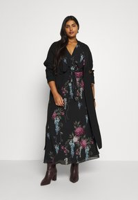 City Chic - SOFLTY DRAPE - Trenchcoat - black - 1