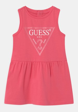 SLEVELESS - Jersey dress - rouge pink