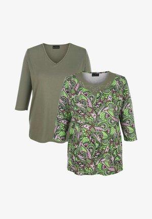 Long sleeved top - oliv/rosé/khaki