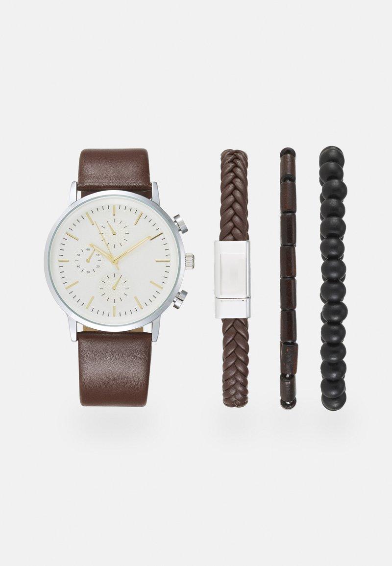 Pier One - SET - Watch - dark brown