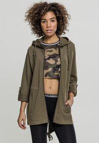 Urban Classics - LADIES TERRY  - Zip-up hoodie - olive - 0