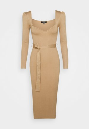 SWEETHEART - Day dress - camel