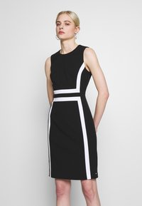 Calvin Klein - CONTRAST PANEL DRESS NS - Day dress - black - 0